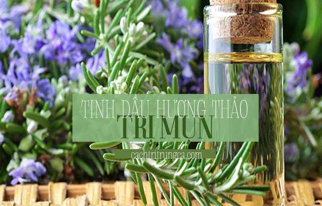 Tinh dầu trị mụn hương thảo
