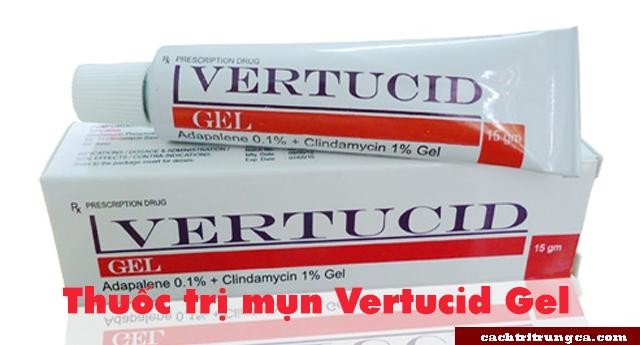 trị mụn bằng thuốc Vertucid Gel