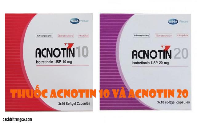 trị mụn bằng thuốc Acnotin - thuốc acnotin 10mg giá bao nhiêu