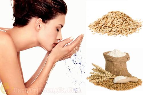 trị mụn ẩn dưới da bằng bột yến mạch, giúp dưỡng và bảo vệ làn da