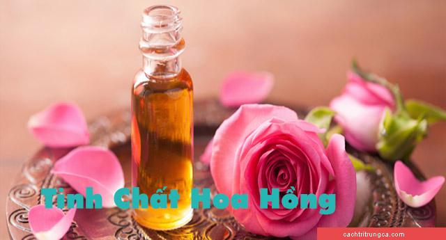 cách làm tinh chất hoa hồng -tinh dầu hoa hồng làm đẹp da