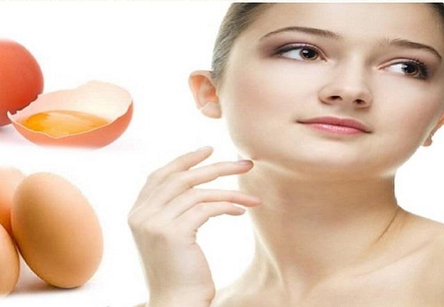 Chăm sóc da mặt bằng trứng gà