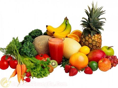 Bổ sung đầy đủ chất dinh dưỡng trong quá trình trị mụn