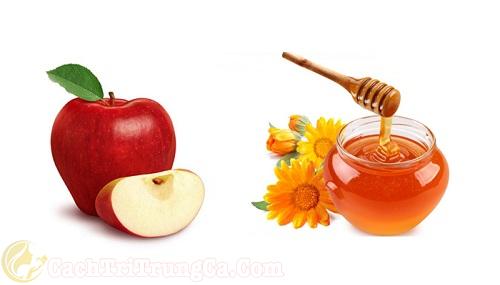 Cách trị mụn bọc bằng mật ong và táo