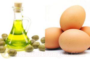 Trị mụn bằng lòng trắng trứng gà, dầu ô liu