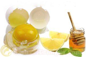 trị mụn bằng mặt nạ lòng trắng trứng, mật ong