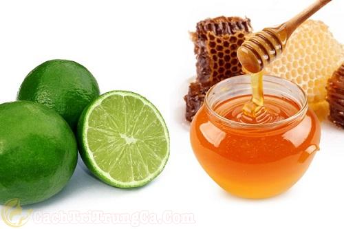 Cách trị thâm mụn bằng mật ong kết hợp với chanh