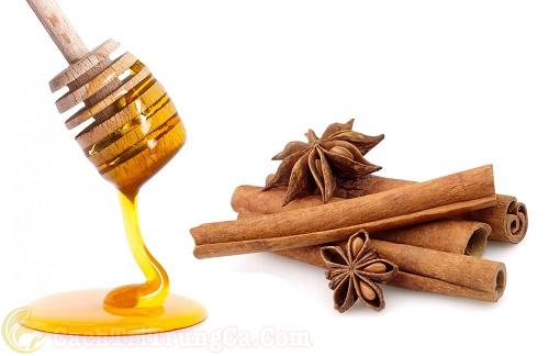 Mật ong và bột quế trị mụn lưng hiệu quả