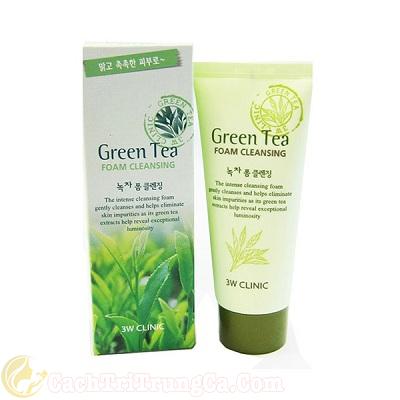 Sữa rửa mặt green tea có tốt không?