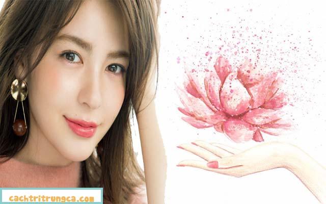 Trị thâm mụn sẹo rỗ với hoa sen