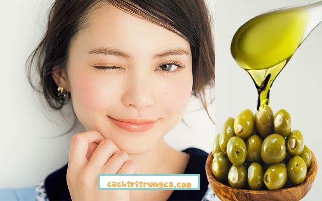 Chữa thâm mụn với dầu olive