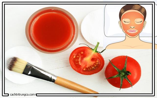 Chữa mụn đầu đen bằng cà chua