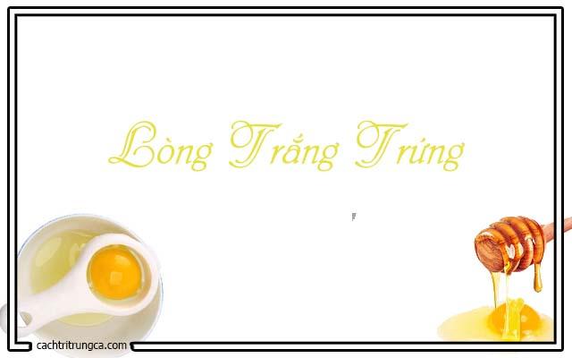 Chữa trị mụn đầu đen bèn lòng trắng trứng