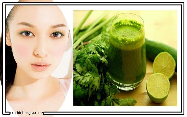 Dùng rau ngò trị mụn đầu đen hiệu quả