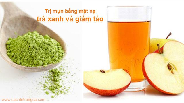 Bột trà xanh đắp mặt trị mụn