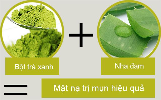 bột trà xanh đắp mặt như thế nào