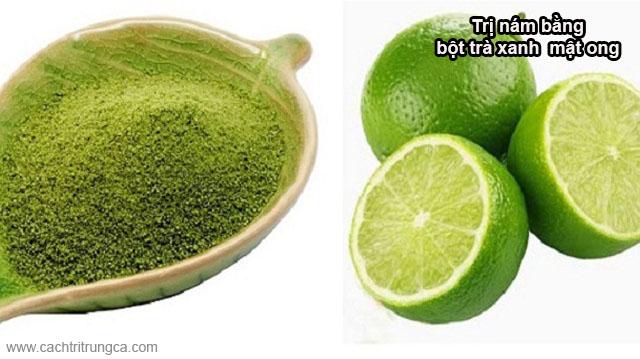bột trà xanh đắp mặt tri nám