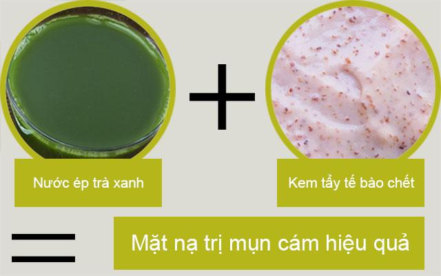 Cách làm trà xanh đắp mặt nạ