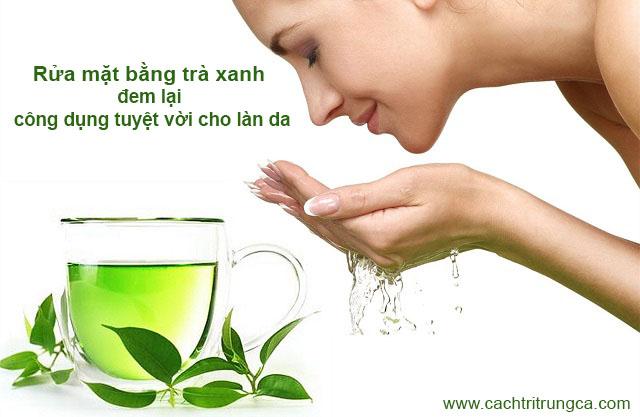 Rửa mặt bằng nước trà xanh mỗi ngày có tốt không?