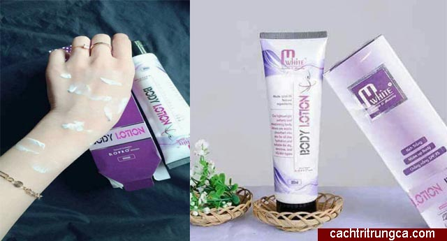 Dùng kem Body Lotion M White
