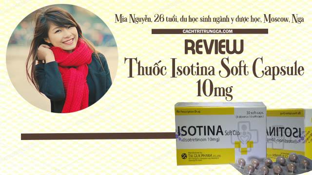 Thuốc isotina trị mụn có tốt không