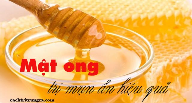 mặt nạ mật ong trị mụn ẩn