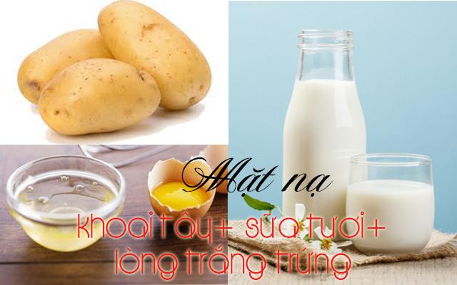 mặt nạ trị mụn từ khoai tây - mặt nạ khoai tây mật ong sữa tươi