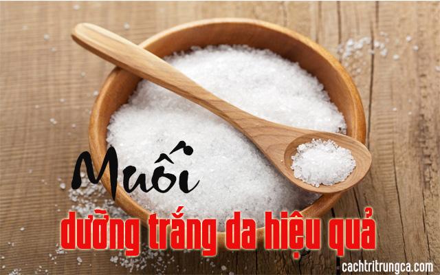 dưỡng trắng da từ muối tại nhà