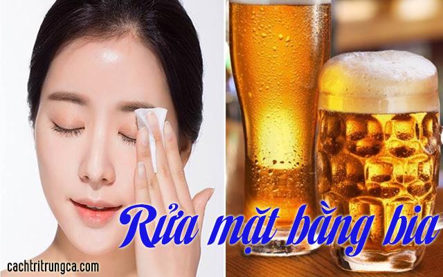 dùng bia làm trắng da - cách tắm bia trắng da - cách làm trắng da mặt từ bia -cách làm trắng da mặt với bia