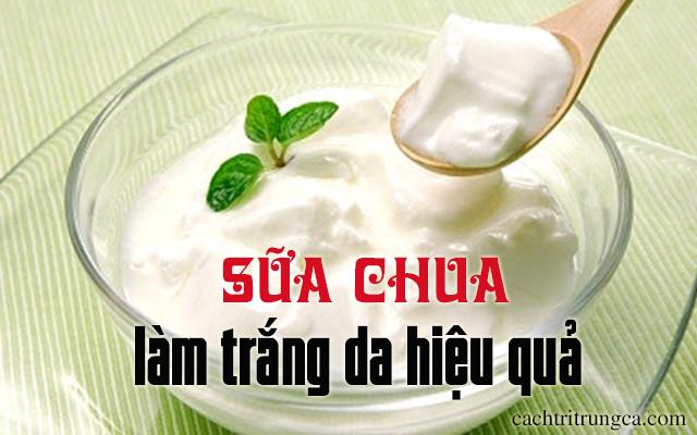 làm trắng da từ sữa chua