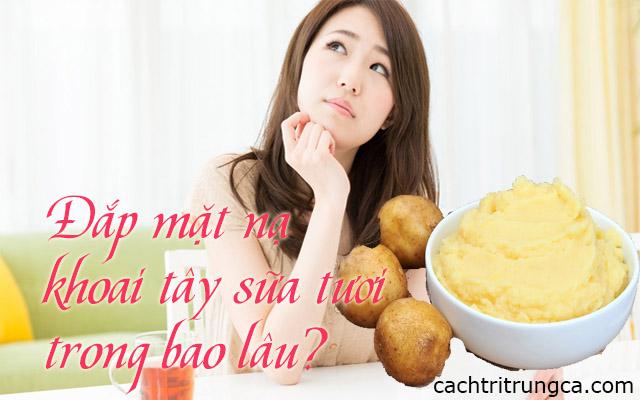 cách làm mặt nạ khoai tây và sữa tươi trị mụn
