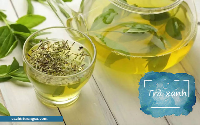 Uống trà xanh thường xuyên làm giảm tình trạng mọc mụn trứng cá